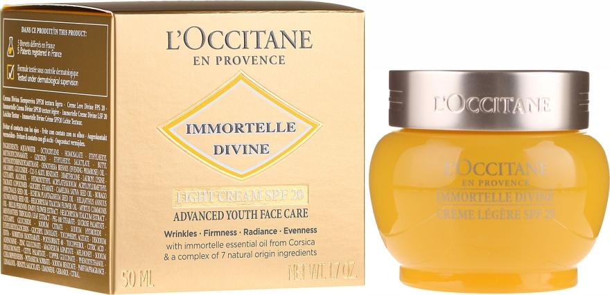 Ľahký denný krém na tvár - L'Occitane Immortelle Divine Cream SPF 20 Advanced Youth Care