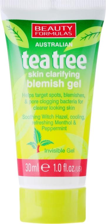 "Protizápalový gél na tvár ""Čajové drevo"" - Beauty Formulas Tea Tree Skin Clarifying Blemish Gel"