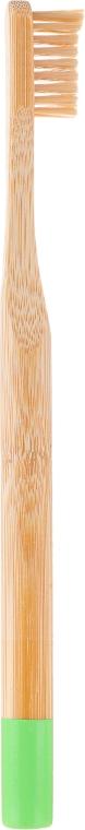 Zubná kefka bambusová, mäkká, zelená - Mohani Toothbrush — Obrázky N2