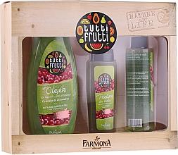Voňavky, Parfémy, kozmetika Sada - Farmona Tutti Frutti Pear & Cranberry Set (sh/gel/425ml + b/peel/100ml + b/spray/200ml)