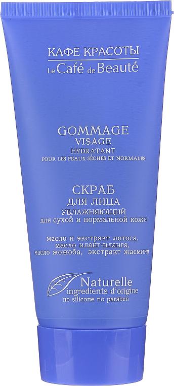 Tvárový peeling hydratačný pre suchú a normálnu pokožku - Le Cafe de Beaute Face Moisturizer Scrab