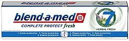 """Voňavky, Parfémy, kozmetika Zubná pasta """"Bylinný komplex"""" - Blend-a-Med Complete Protect Fresh 7 Herbal Fresh Toothpaste"""