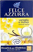 Voňavky, Parfémy, kozmetika Elektrický difúzor - Felce Azzurra Vanilla & Monoi Oil (vymeniteľná jednotka)
