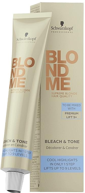 Neutralizujúci toner na zosvetlenie - Schwarzkopf Professional BlondMe Bleach & Tone