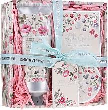 Voňavky, Parfémy, kozmetika Sada - Baylis & Harding Royale Garden Rose Poppy And Vanila (sh/cr/130ml + b/butter/100ml + soap/150g)