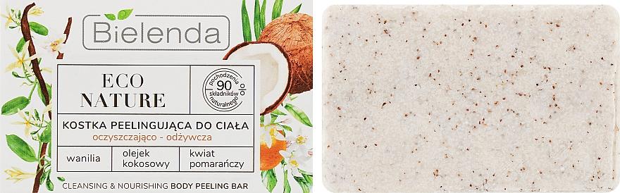 """Peelingové mydlo na telo """"Kokos"""" - Bielenda Eco Nature Body Peeling Bar Vanilla Coconut Milk Orange"""