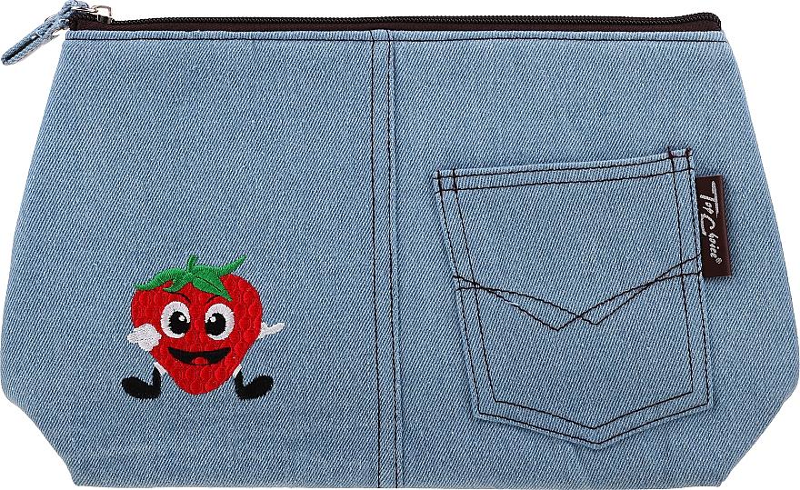 """Kozmetická taška """"Motifs"""", 94767, modrá s jahodou - Top Choice — Obrázky N1"""