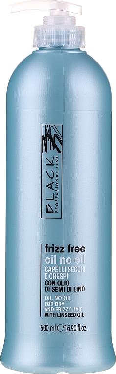 """Fluid pre vyrovnávanie vlasov """"Oil bez oleja"""" pre nepoddajné vlasy - Black Professional Line Anti-Frizz"""
