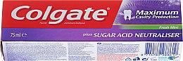 """Voňavky, Parfémy, kozmetika Zubná pasta """"Neutralizátor kyseliny cukrovej"""" - Colgate Maximum Cavity Protection Fresh Mint"""
