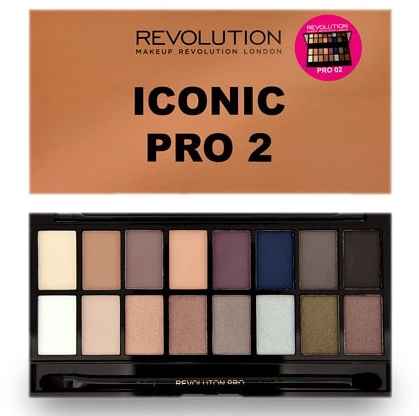 Paleta tieňov na viečka, 16 odtieňov - Makeup Revolution Salvation Eyeshadow Palette Iconic Pro 2 — Obrázky N1