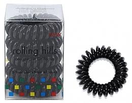Voňavky, Parfémy, kozmetika Gumička-náramok do vlasov, čierna - Rolling Hills 5 Traceless Hair Rings