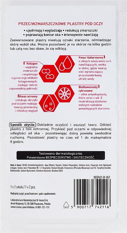 Náplasti pod oči proti vráskam - Lirene Dermo Program No Wrinkles — Obrázky N2