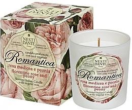 """Voňavky, Parfémy, kozmetika Vonná sviečka """"Florentská ruža a pivónia"""" - Nesti Dante Romantica Florentine Rose & Peony"""