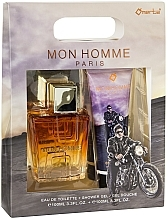 Voňavky, Parfémy, kozmetika Omerta Paris Mon Homme - Sada (edt/100ml + sh/gel/100ml)