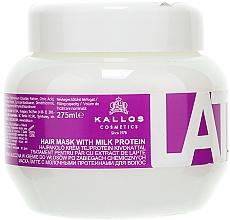 Voňavky, Parfémy, kozmetika Maska na poškodené vlasy - Kallos Cosmetics Latte With Milk Protein Mask