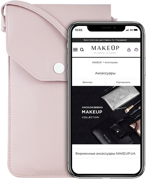 """Púzdro a taška na mobil s remienkom, púdrová """"Cross"""" - Makeup Phone Case Crossbody Powder"""