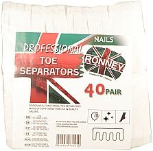 Voňavky, Parfémy, kozmetika Separátory na pedikúru, 80 ks - Ronney Professional Toe Separators