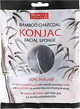 Voňavky, Parfémy, kozmetika Hubka na umývanie - Beauty Formulas Konjac Bamboo Charcoal Facial Sponge