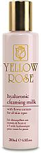 Voňavky, Parfémy, kozmetika Čistiace mlieko s kyselinou hyalurónovou - Yellow Rose Hyaluronic Cleansing Milk