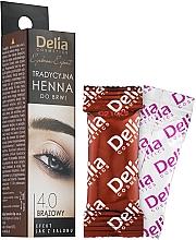 Voňavky, Parfémy, kozmetika Farba na obočie v prášku, hnedá - Delia Brow Dye Henna Traditional Brown