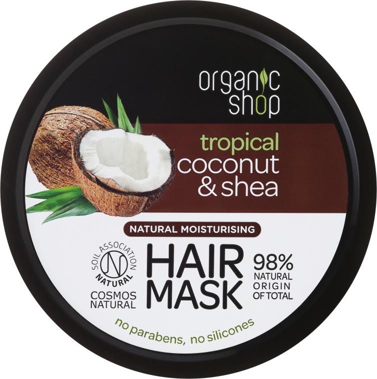 Maska na vlasy - Organic Shop Coconut & Shea Moisturising Hair Mask