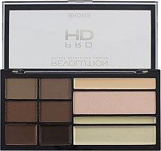 Voňavky, Parfémy, kozmetika Paleta na tvarovanie obočia - Makeup Revolution HD Pro Brows