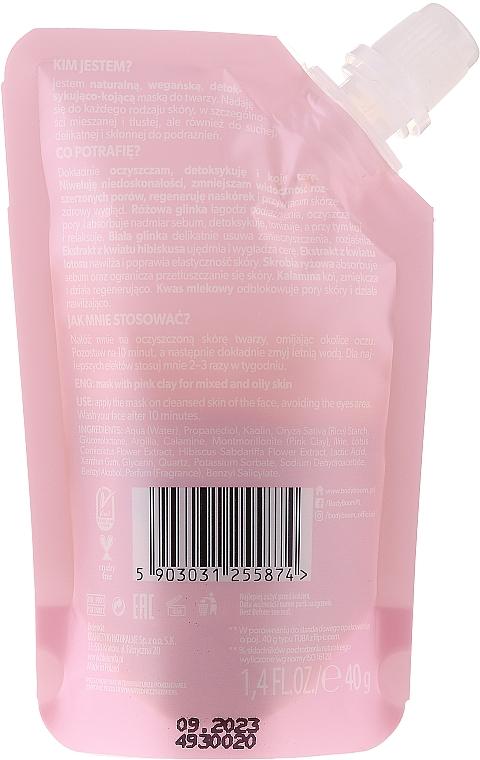 Upokojujúca detoxikačná maska s ružovou hlinou - BodyBoom Face Boom Mask With Pink Clay — Obrázky N2