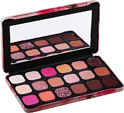 Voňavky, Parfémy, kozmetika Paleta očných tieňov, 18 odtieňov - Makeup Revolution Forever Flawless Palette