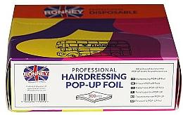 Voňavky, Parfémy, kozmetika Ryflovaná fólia pre kaderníkov, 300 ks - Ronney Professional Hairdressing Pop-Up Foil
