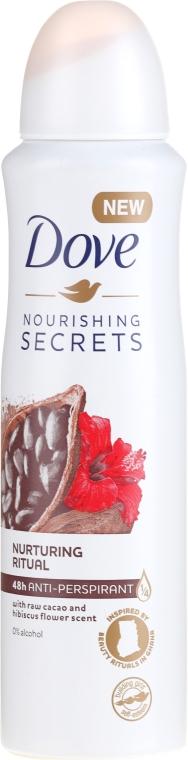 Sprejový antiperspirant - Dove Nourishing Secrets Cacao & Hibiscus Dry Spray Antiperspirant