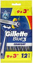 Voňavky, Parfémy, kozmetika Sada jednorazových holiacich strojov, 12 ks. - Gillette Blue 3 Comfort