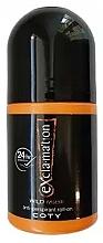 Voňavky, Parfémy, kozmetika Coty Ex'cla-ma'tion Wild Musk Anti-Transpirant Roll-On - Deodorant