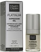 Voňavky, Parfémy, kozmetika Gél na pokožku okolo očí a pier - MartiDerm Platinum Expression Gel