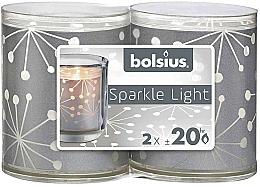 Voňavky, Parfémy, kozmetika Svietniky so sviečkami - Bolsius Sparkle Lights Crystal Silver Candle