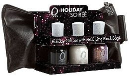 Voňavky, Parfémy, kozmetika Sada lakov - Orly Holiday Soiree Little Black Bag Set (nail/3x18ml + bag)