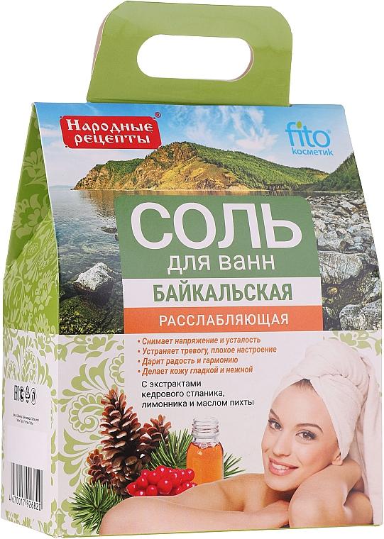 """Relaxačná soľ do kúpeľa """"Bajkalská"""" - Fito Kosmetik"""