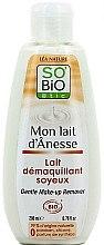 Voňavky, Parfémy, kozmetika Mlieko na mäkké odličovanie s osliovým mliekom - So'Bio Etic Gentle Make-up Remover