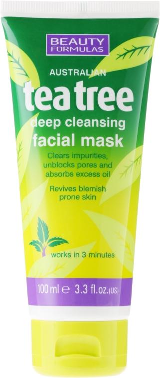 """Maska hlbokého čistenia pre osobu """"Čajové drevo"""" - Beauty Formulas Tea Tree Deep Cleansing Facial Mask"""