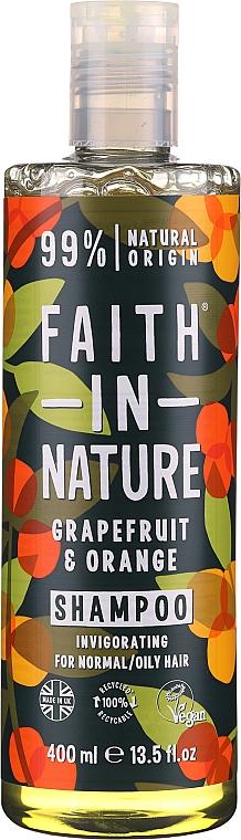 "Šampón pre normálne a mastné vlasy ""Grapefruit a pomaranč"" - Faith In Nature Grapefruit & Orange Shampoo"