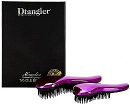 Voňavky, Parfémy, kozmetika Sada kefiek na vlasy - KayPro Dtangler Miraculous Purple (2xbrush)