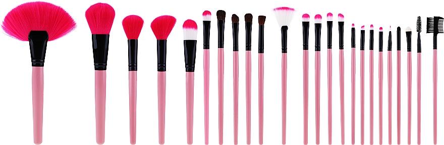 Sada profesionálnych štetcov na líčenie, 24ks, ružové - Tools For Beauty