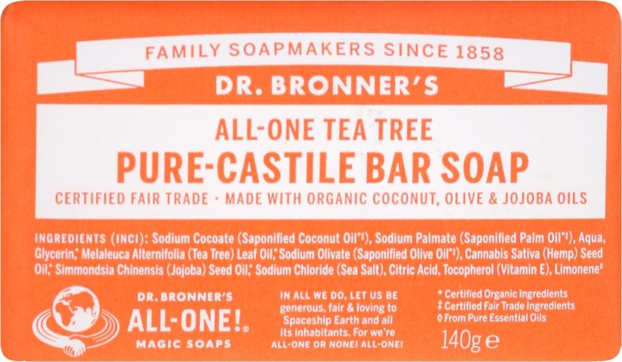 "Mydlo ""Čajový strom"" - Dr. Bronner's Pure Castile Bar Soap Tea Tree"