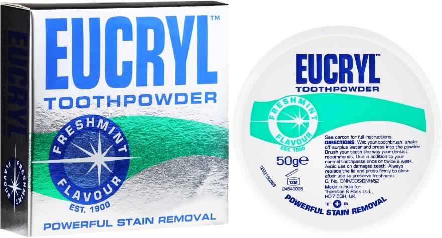 Prášok na zuby - Eucryl Toothpowder Freshmint