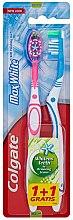 Voňavky, Parfémy, kozmetika Zubná kefka Max White, svetlomodrá+ružová - Colgate Max White Medium Polishing Star