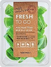 Voňavky, Parfémy, kozmetika Osviežujúca látková maska s aloe - Tony Moly Fresh To Go Mask Sheet Aloe