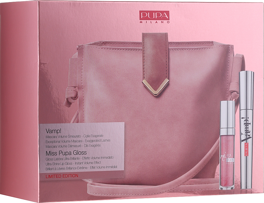 Sada - Pupa Limited Edition (mascara/9ml + lip/gloss/5ml + bag)