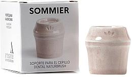 Voňavky, Parfémy, kozmetika Stojan na zubnú kefku, ružový - NaturBrush Sommier Toothbrush Holder