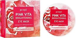 Voňavky, Parfémy, kozmetika Rozjasňujúce vankúšiky pod oči na báze ružovej vody - Petitfee&Koelf Pink Vita Brightening Eye Mask