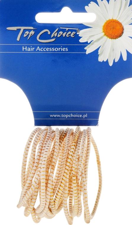 """Gumička do vlasov """"White Collection"""", biela, 18 kusov - Top Choice — Obrázky N1"""