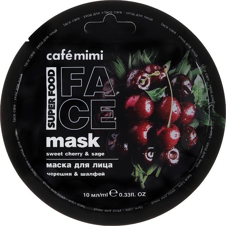 """Maska na tvár """"Čerešňa a šalvia"""" - Cafe Mimi Face Mask"""